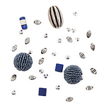 Buy Rico Mixed Pack of Beads, Blue Online at johnlewis.com