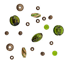 Buy Rico Mixed Pack of Beads, Green Online at johnlewis.com