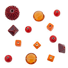 Buy Rico Mixed Pack of Beads, Red/Orange Online at johnlewis.com