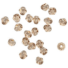 Buy Rico Diamond Glass Beads, 4mm, Caramel Online at johnlewis.com
