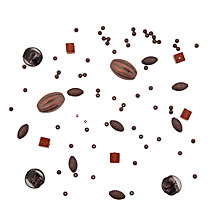 Buy Rico Mixed Pack of Beads, Brown Online at johnlewis.com