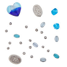 Buy Rico Mixed Pack of Beads, Blue/Turquoise Online at johnlewis.com