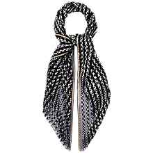 Buy Jaeger Monochrome Stripe Scarf, Black Online at johnlewis.com