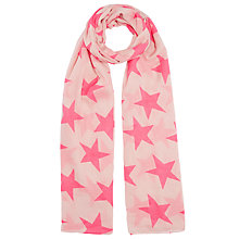 Buy Becksondergaard Fine Cotton Twilight Print Scarf, White/ Pink Online at johnlewis.com
