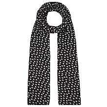 Buy Becksondergaard Fine Summer Star Print Scarf, Black Online at johnlewis.com