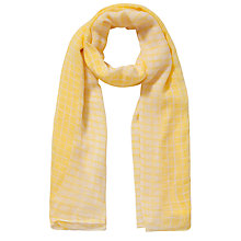 Buy Becksondergaard Scarlet Fine Cotton Scarf, Lime Online at johnlewis.com