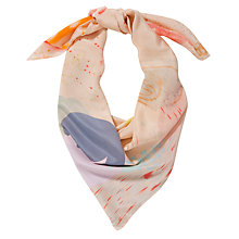 Buy Becksondergaard Joyful Splash Silk Scarf, Peach/Multi Online at johnlewis.com