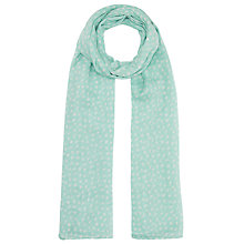Buy Becksondergaard Fine Cotton Star Scarf, Aqua Online at johnlewis.com