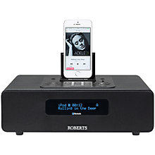 Buy ROBERTS Blutune 65 Bluetooth DAB/DAB+/FM Digital Clock Radio, Black Online at johnlewis.com