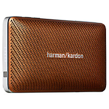 Buy Harman Kardon Esquire Mini Portable Bluetooth Speaker System with Microphone, Brown Online at johnlewis.com