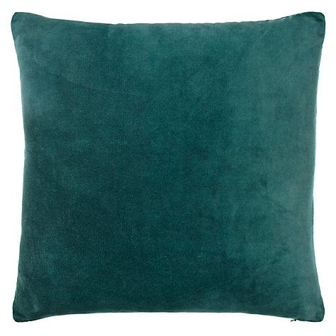 buy john lewis plain velvet cushion john lewis. Black Bedroom Furniture Sets. Home Design Ideas