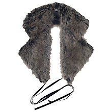Buy French Connection Liberty Fur Collar, Grey/Black Online at johnlewis.com
