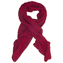 Buy French Connection Fifi Knit Scarf, Berry Punch Online at johnlewis.com