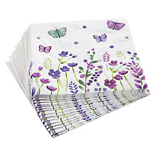 Buy John Lewis Butterfly Floral Paper Napkins, Pack of 20 Online at johnlewis.com