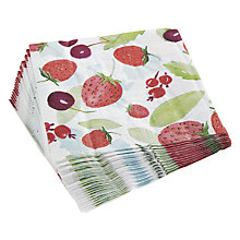 Buy John Lewis Strawberries Napkins, Pack of 20 Online at johnlewis.com