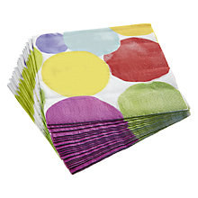 Buy John Lewis Bright Spot Napkins, Pack of 20 Online at johnlewis.com
