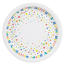 Buy John Lewis Happy Birthday Plates, Pack of 8 Online at johnlewis.com