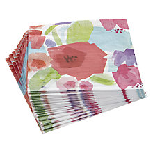 Buy John Lewis Summer Painterly Napkins, Pack of 20 Online at johnlewis.com