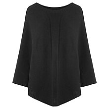 Buy Jigsaw Knitted Cape, Black Online at johnlewis.com