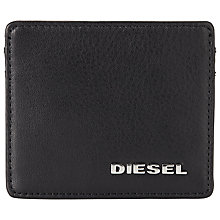 Buy Diesel Johnas Leather Card Holder, Black Online at johnlewis.com