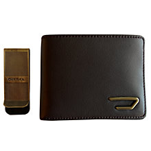 Buy Diesel Wallet and Money Clip Set, Brown Online at johnlewis.com