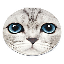 Buy Catseye Silver Kitty Clam Mirror Pouch Online at johnlewis.com