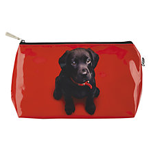 Buy Catseye Black Lab On Red Wash Bag, Red Online at johnlewis.com