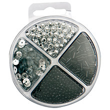 Buy Rico Sequin Mix Bead Set, Silver/Black Online at johnlewis.com