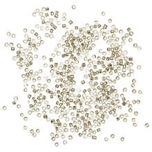 Buy Rico Rocaille Transparent Glass Beads, 2mm, Silver Online at johnlewis.com