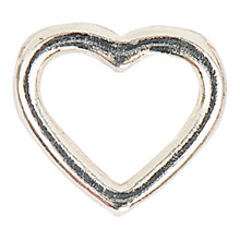 Buy Smooth Heart Charm, 9mm Online at johnlewis.com