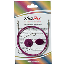 Buy Knit Pro Single Cable Interchangeable Needle Cable, 94cm, Purple Online at johnlewis.com