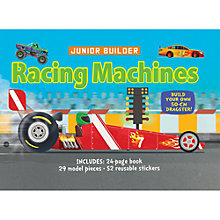 Buy Junior Builder Racing Machines Book & Models Kit Online at johnlewis.com