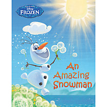 Buy Disney Frozen An Amazing Snowman Book Online at johnlewis.com