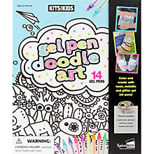 Buy Gel Pen Doodle Art Book & Pens Online at johnlewis.com