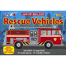 Buy Junior Builder Rescue Vehicles Book & Models Kit Online at johnlewis.com