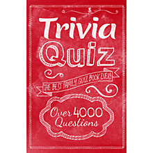 Buy Trivia Quiz Family Quiz Book Online at johnlewis.com