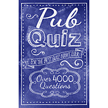 Buy Pub Quiz Book Online at johnlewis.com