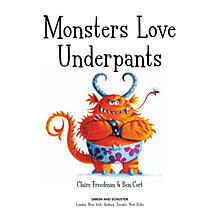 Buy Monsters Love Underpants Book Online at johnlewis.com
