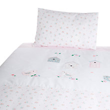 Buy John Lewis Bird Applique Cotbed Duvet Set, White Online at johnlewis.com