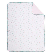 Buy John Lewis Floral Swaddling Blanket, White/Pink Online at johnlewis.com