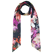 Buy Ted Baker Cascading Floral Skinny Scarf, Black Online at johnlewis.com