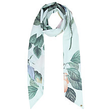 Buy Ted Baker Distinguish Rose Skinny Scarf, Mint Online at johnlewis.com