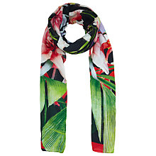 Buy Ted Baker Mirrored Tropics Scarf, Black Online at johnlewis.com