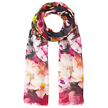 Buy Ted Baker Cascading Floral Silk Scarf, Black Online at johnlewis.com