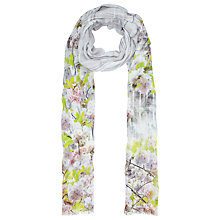 Buy Ted Baker Window Blossom Long Scarf, Purple Online at johnlewis.com
