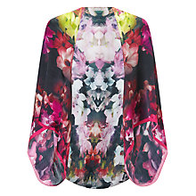 Buy Ted Baker Cascading Floral Silk Cape, Black Online at johnlewis.com