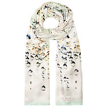Buy Ted Baker Crystal Droplets Long Silk Scarf, Pink Online at johnlewis.com