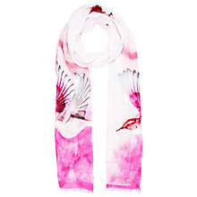 Buy Ted Baker Flutter Bird Long Scarf, Pink Online at johnlewis.com