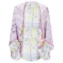 Buy Ted Baker Window Blossom Silk Cape, Purple Online at johnlewis.com