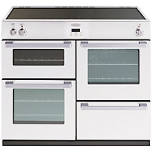 Buy Belling DB4 100Ei Induction Hob Range Cooker, White Online at johnlewis.com